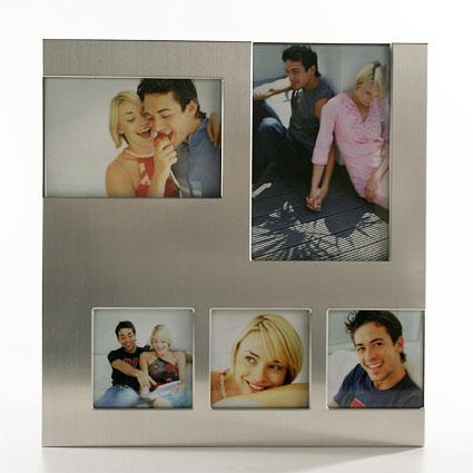 Galerierahmen MULTI 5er 9x13, 10x15, 7,5x7,5 cm | silber matt